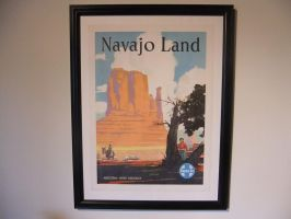 Navajo Land Poster by SouthwestChief