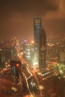 Shanghai Financial Tower and Jin Mao Tower by Luki25