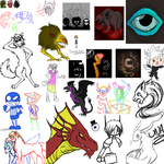 Scary Sketchdump Of Doodles And Stuff by RoomsInTheWalls