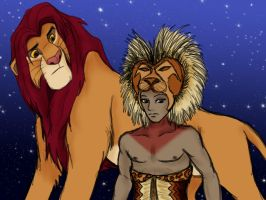 Simba from movie and play by Aureawolf