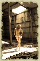 Beautiful Nude Blonde in Abandoned Warehouse by csp-media