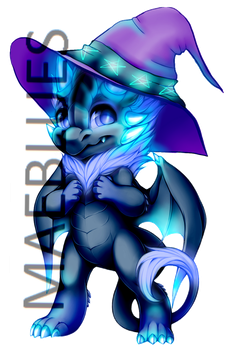 Blue Mage Dragon Paintie by MaeBlues