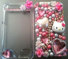 Kitty Rose Decoden iPhone Case by xxrainbowacid
