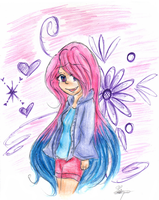 Request #17 - Pink and Blue by Leonorie