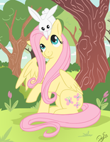 Fluttershy and Angel by DawnAllies