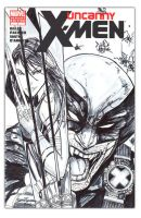Wolverine Sketch Cover inks by jamietyndall