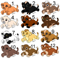 12 cub adoptables [OPEN] [Offer to adopt!] 1 left by horse-power