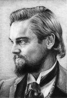 Leonardo DiCaprio as Calvin Candie by Sabdi