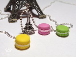 French macaroons Necklace 1 by voodoogrl