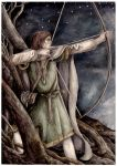 Legolas aims for the Fell Beast by peet