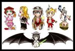 Some Chibi by Marvolo-san