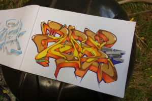 MENDS-One Orange Yellow Brown by SKUM-one