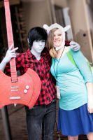 Fionna and Marshall Lee Cosplay by AbsolutelyBecs
