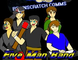 Brainscratch Five Man Band Trope by RunnerGuitar