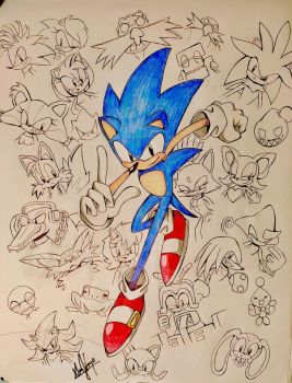 Sonic the Hedgehog by Artfrog75 by Artfrog75
