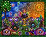 Trippy Salvia Apo Rainbow Garden by wolfepaw