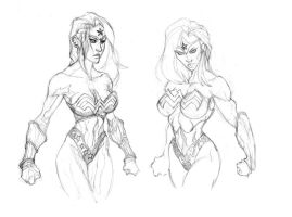 Wonder Woman Sketches by GavinMichelli
