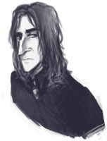 Sketch: Snape by sevenluck