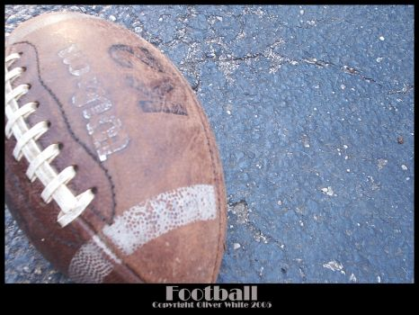 Old and Weathered Football by pinkpanther27