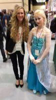 Elsa and the creator of Elsa, Brittney Lee!!!! by Seras-Loves-Master