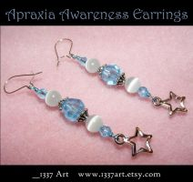 Apraxia Awareness Earrings by 1337-Art
