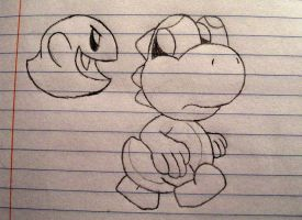 Why yoshi doesn't go into haunted houses by GyRoEsEhNi