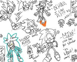 sketches lineart dump, triple s by SonicForTheWin1