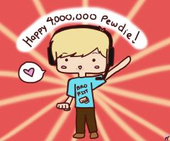 Happy 4,000,000 Pewdie! by pyohappy
