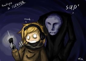 Pewdiepie in SLENDER by LinWon