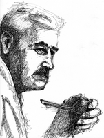 Portrait of Faulkner by JackRaz