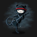 Ninja Cat Shirt Design by SingapuraStudio
