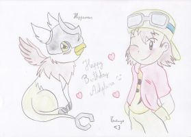 Happy Birthday Ashflura :3 by AsuruiHiane