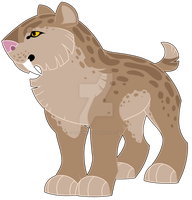 Saber-toothed cat graphic by wingedwolf94