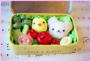 Polymer Clay Bento Box by ChloeeeeLynnee97