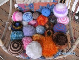 crochet ball collection by PinkuArt