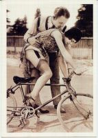 Bicycle Pin Up by PostcardsStock