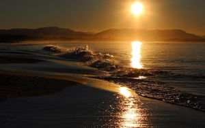 The Byron files - Clarkes Beach sunset by CouchyCreature