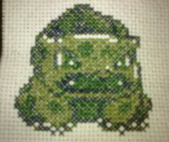 Bulbasaur Cross Stitch by Pansymanic