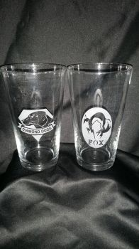 Metal Gear Solid Etched Glasses by RabbitTales