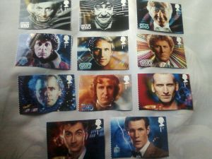 Doctor Who - 11 Doctors Royal Mail stamp photo set by DoctorWhoOne