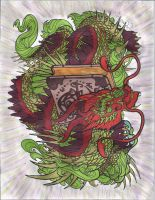 Bookwyrm lineart coloring by Artist1946