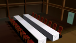 MMD long table stage by amiamy111