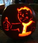 PipBoy Pumpkin Fallout by CrossdressingKuja