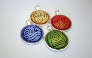 Avatar the Last Airbender Pendants by JPepArt