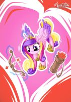 Princess Cadance on Duty! by mysticalpha