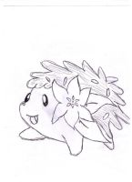 Shaymin (uncolored) by iFailAtEverything
