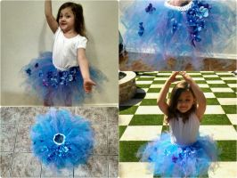 Spring Flowers tutu collage by MaiseDesigns