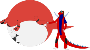 Ticklish Guilmon Balloon by Shelby95