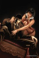 Dark Shadows Vampirella 04 Cover Colors by FabianoNeves