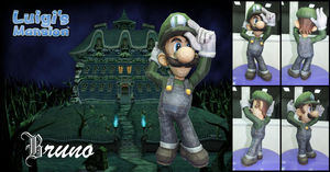 SSBB Luigi Papercraft by BrunoPigh